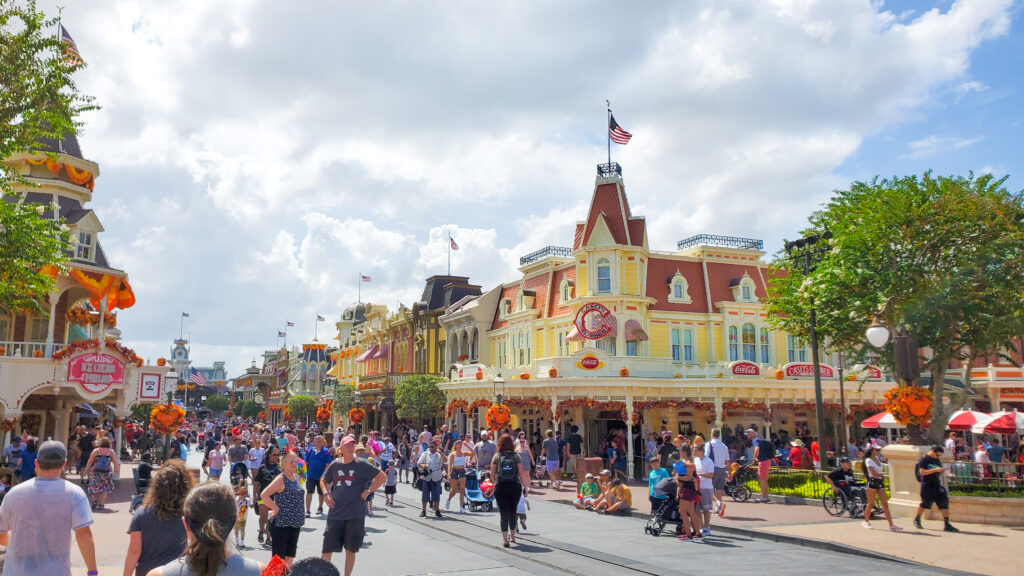 Main Street USA in Disney World's Magic Kingdom