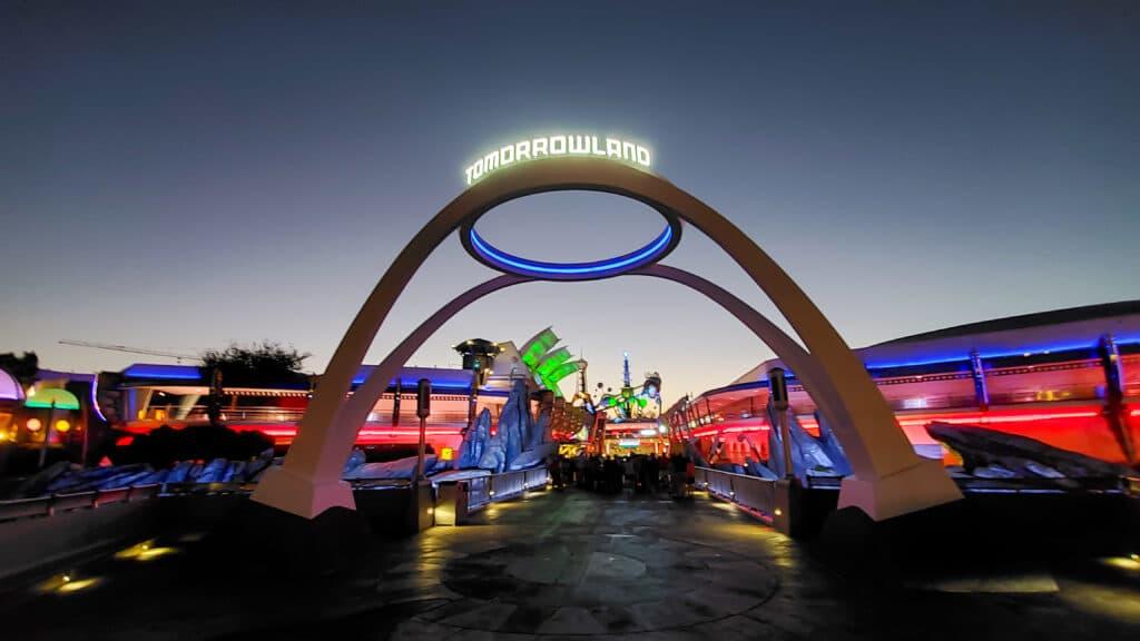 Magic Kingdom Tomorrowland Sign