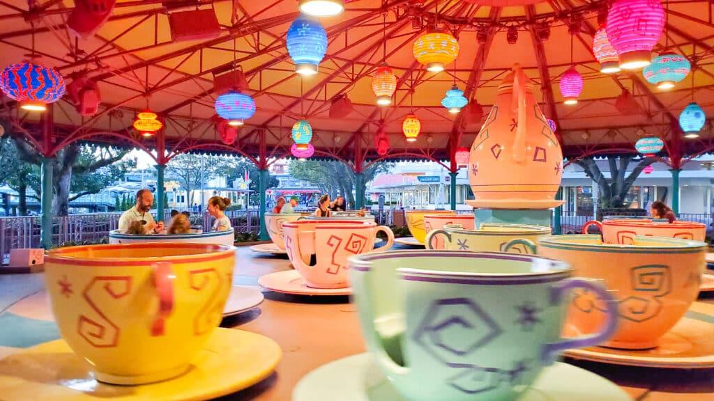 Tea Cups ride at Magic Kingdom