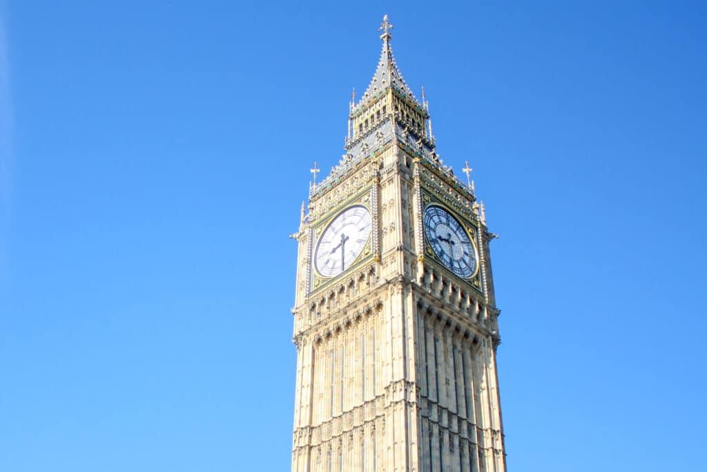 Big Ben inside Elizabeth Tower, London
