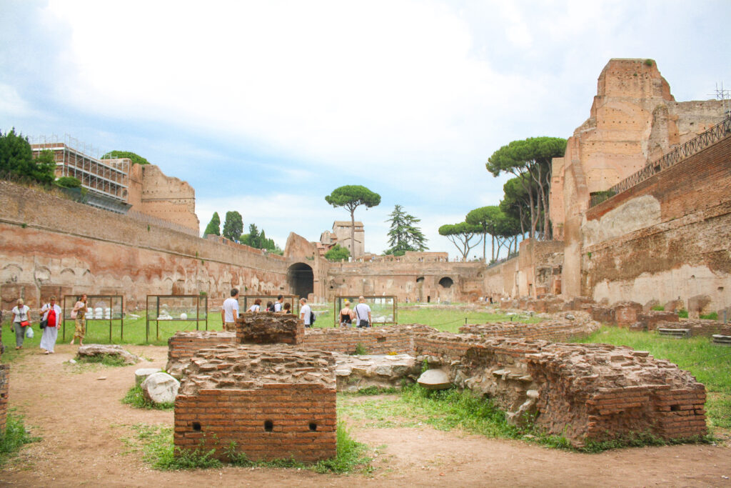 Palatine Hill Ruins in Rome