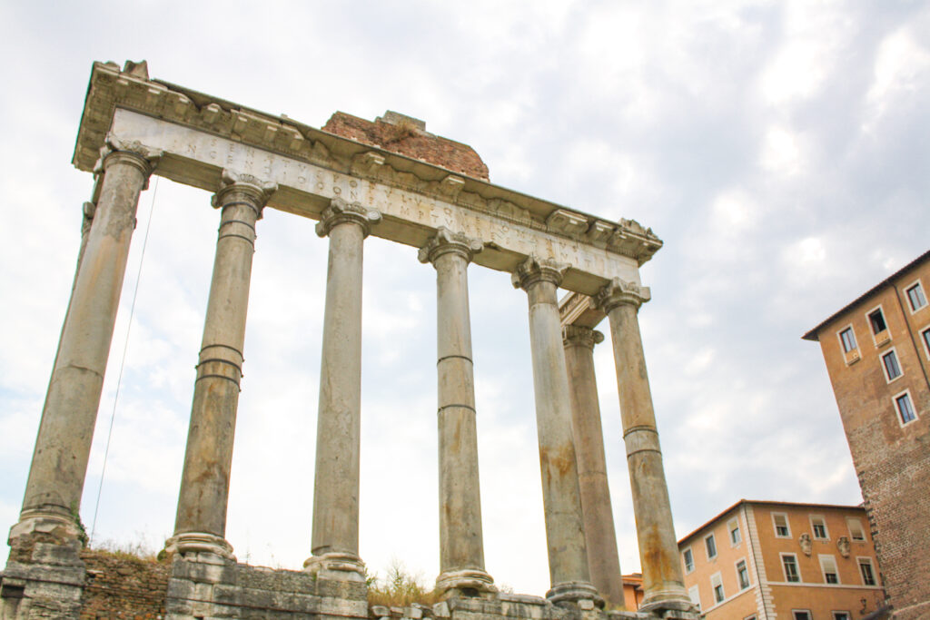 Temple ruins at the Roman Forum