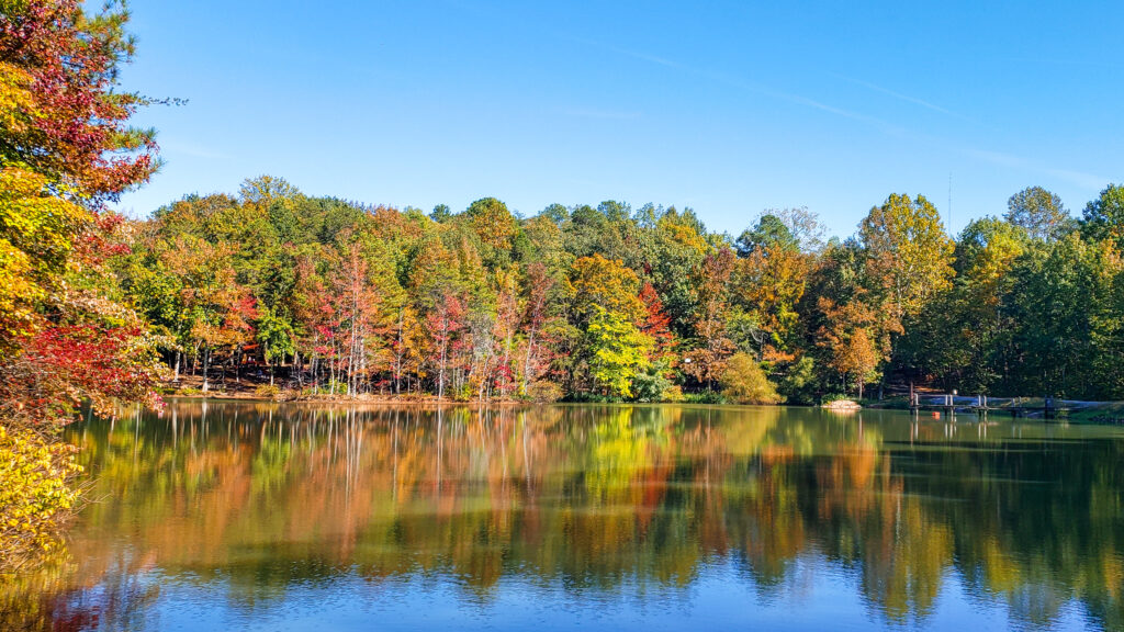 Fall Colors on Green Mountain in Huntsville, AL