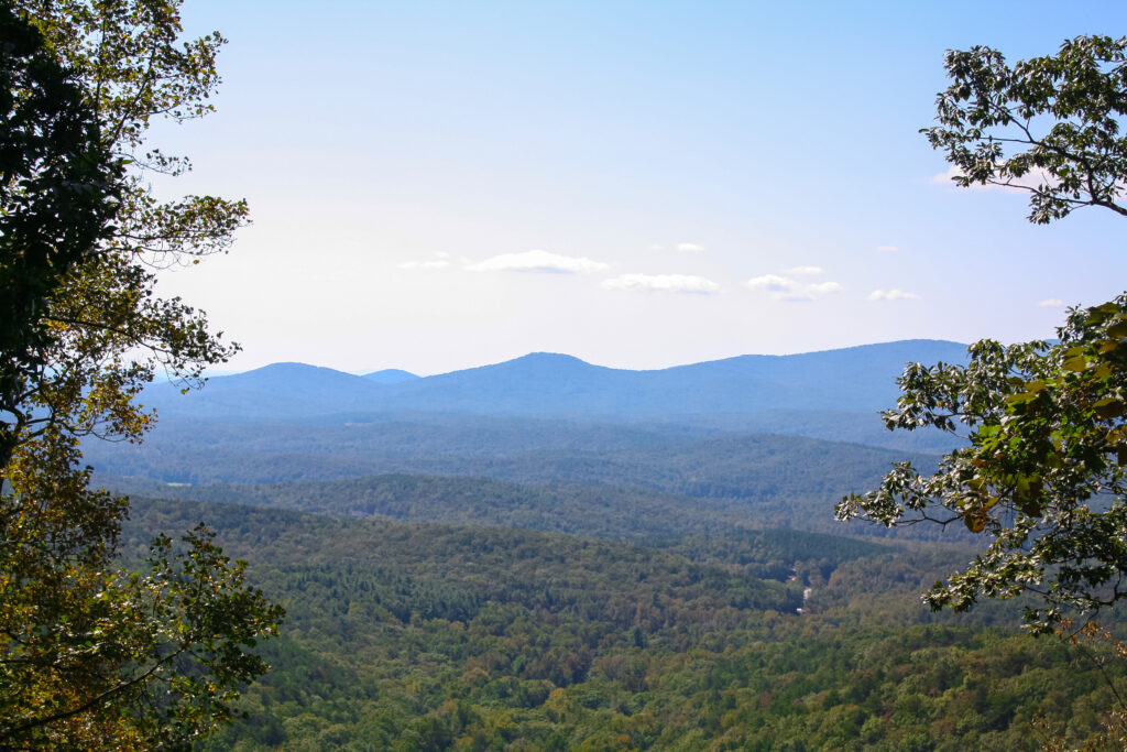 Overlook from top section of Amicalola Falls