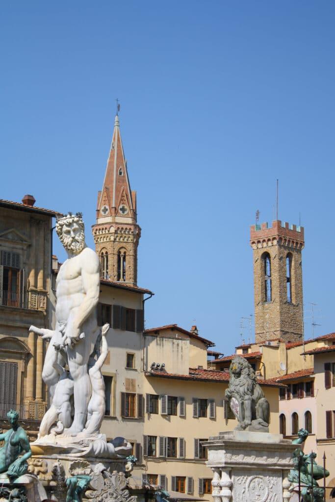 Piazza della Signora in Florence Italy