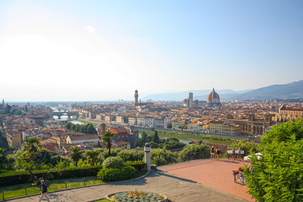 The Piazzale Michelangelo (Michelangelo Plaza) is the best place to get a view of Florence.