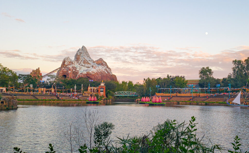 View of Animal Kingdom's Asia from Flame Tree seating area