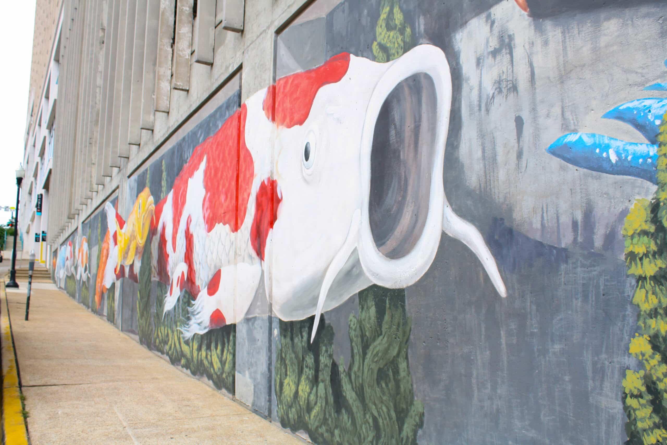 Koi Mural downtown Huntsville