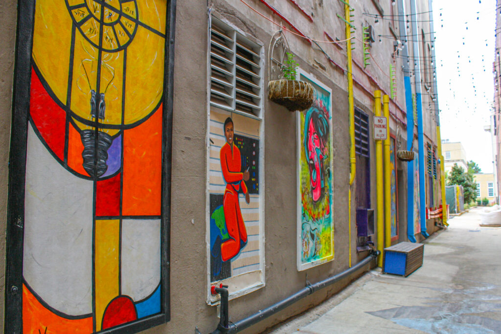 Clinton Row Art Walk in Downtown Huntsville, Alabama