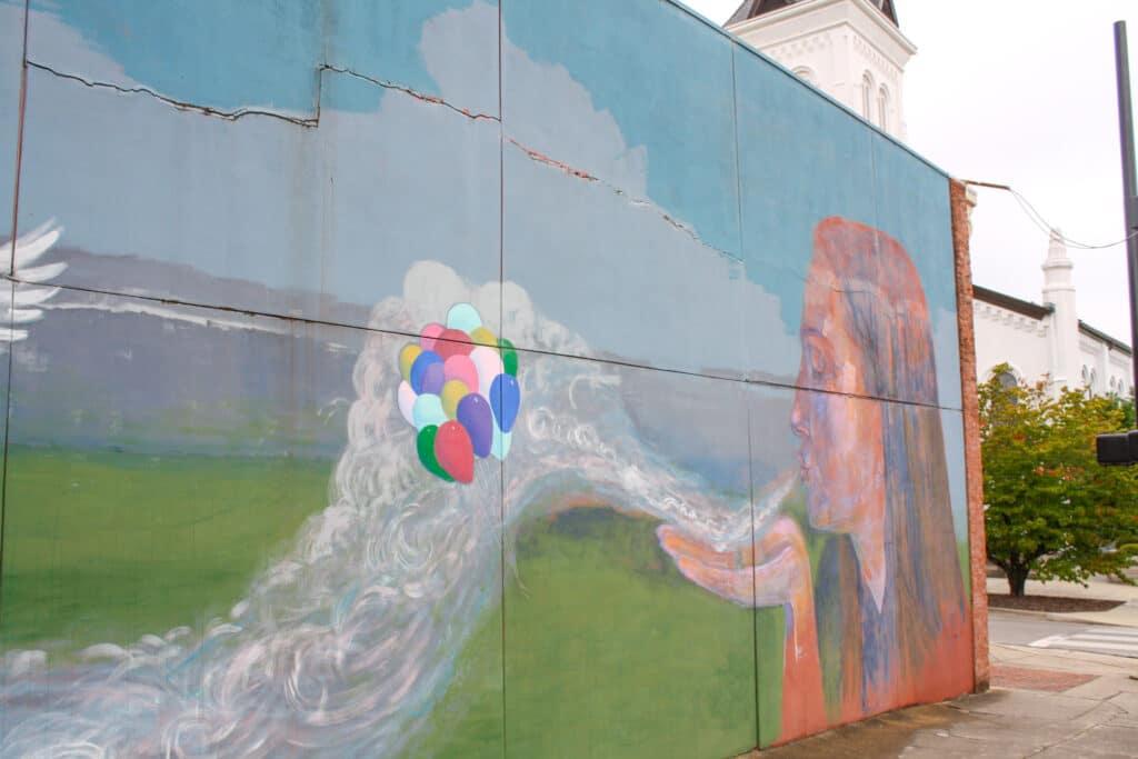 Catalyst by Robert Bean is an interactive mural in Huntsville