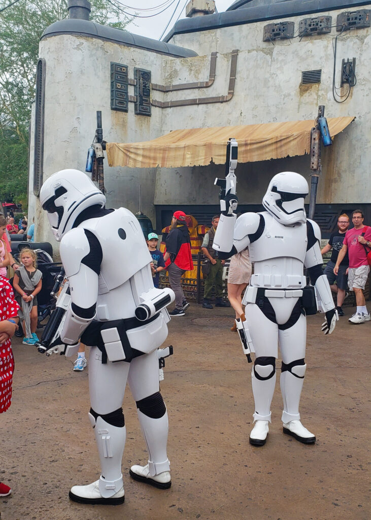 Storm Troopers Question Disney Guests