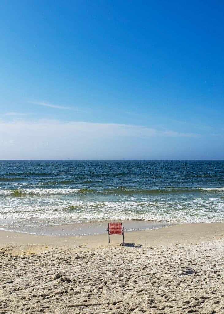 Beach at Dauphin Island Alabama